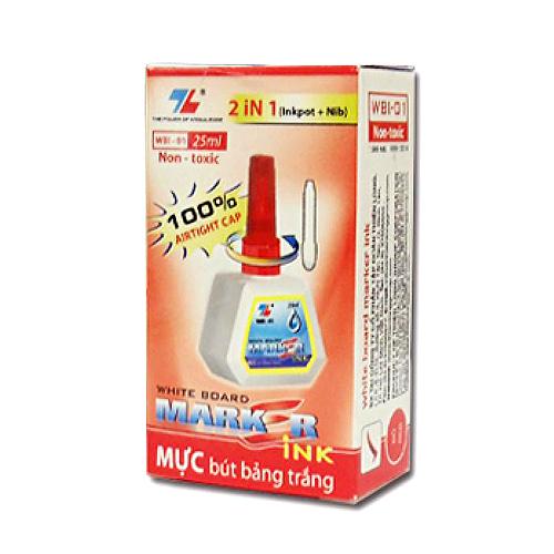 Mực bút lông Bảng Flexoffice FO-WBI01 màu đỏ