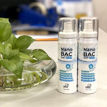 Nước rửa tay diệt khuẩn Nano Bạc AHT 100ml ( COMBO 2 CHAY GIÁ 180.000đ)